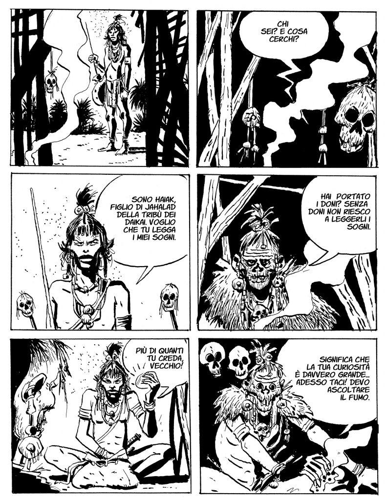 Mari del sud, pagina del fumetto