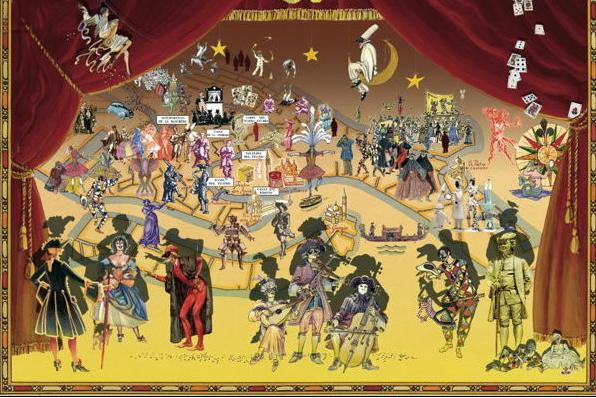 mappa Carnevale di Venezia