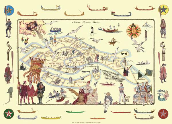 Mappa Regata Storica
