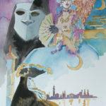 Ladri maschere e lune turche, illustrazione