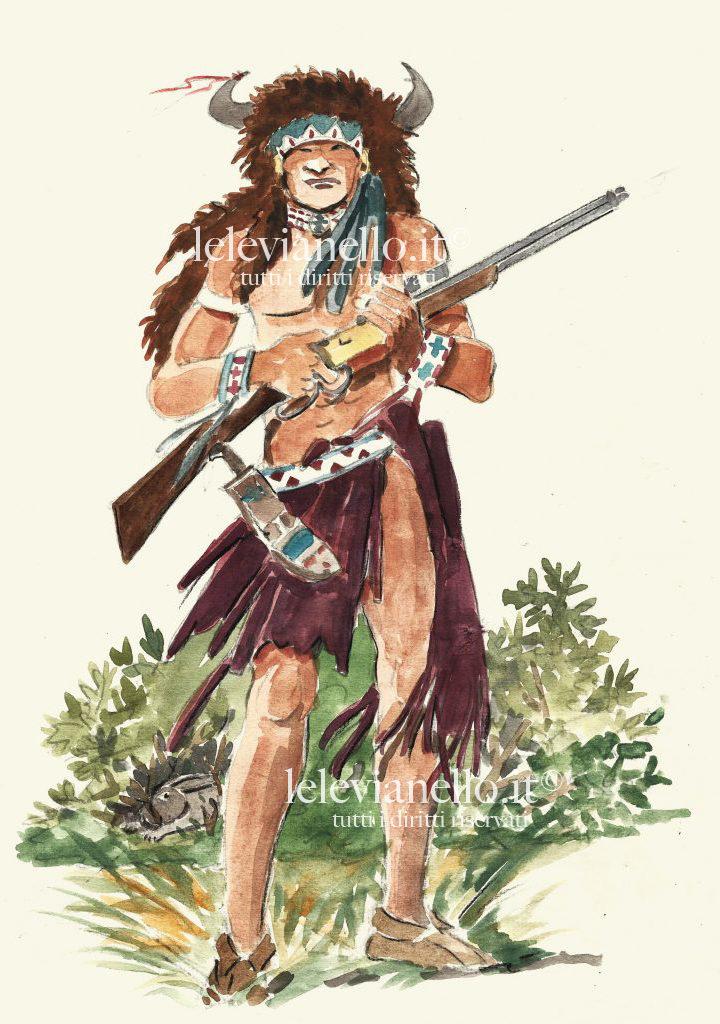 09. Guerriero pellerossa con fucile