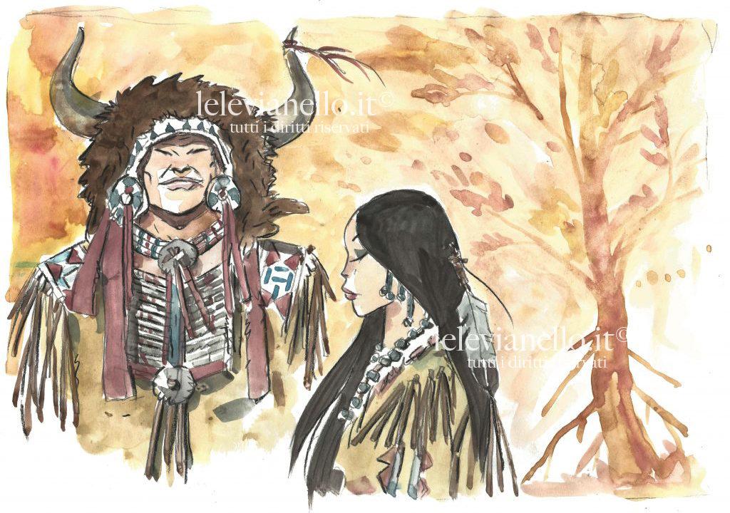 18. Capo indiano con squaw