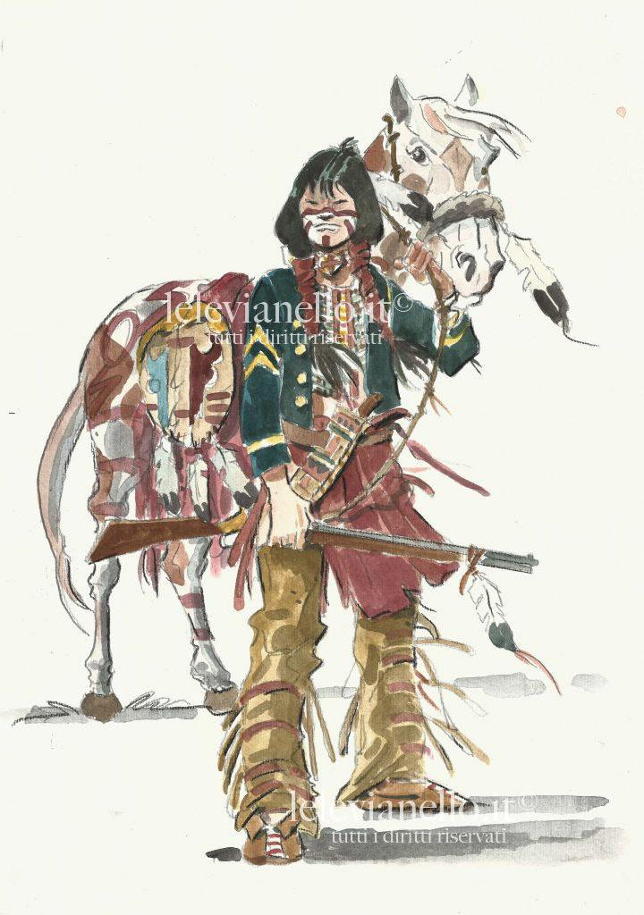 24. Guerriero con cavallo