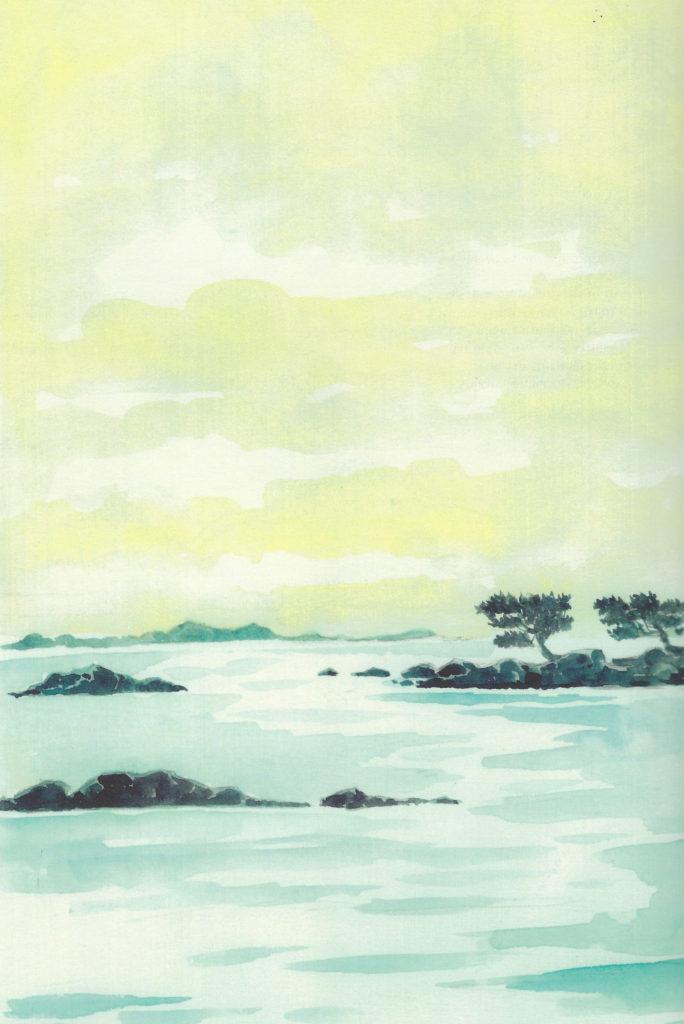 Mare. Illustrazione acquerello