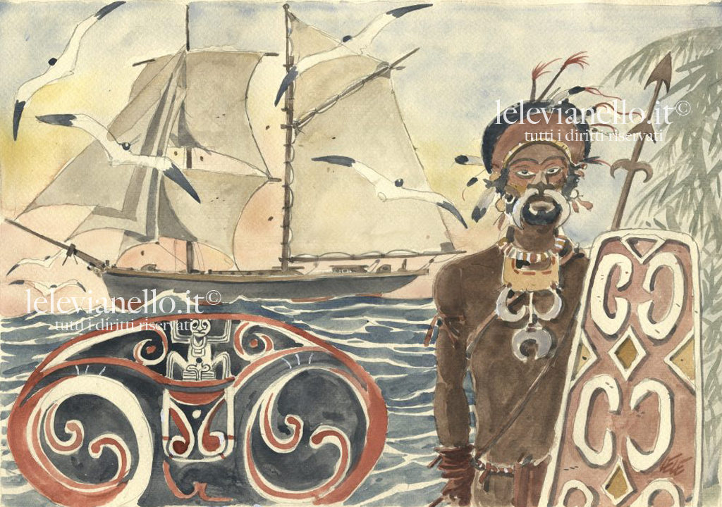 16. Aborigeno con veliero