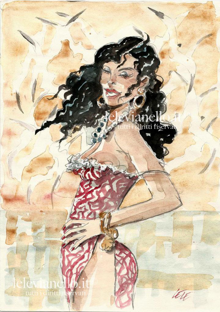 37. Donna di Cuba al tramonto