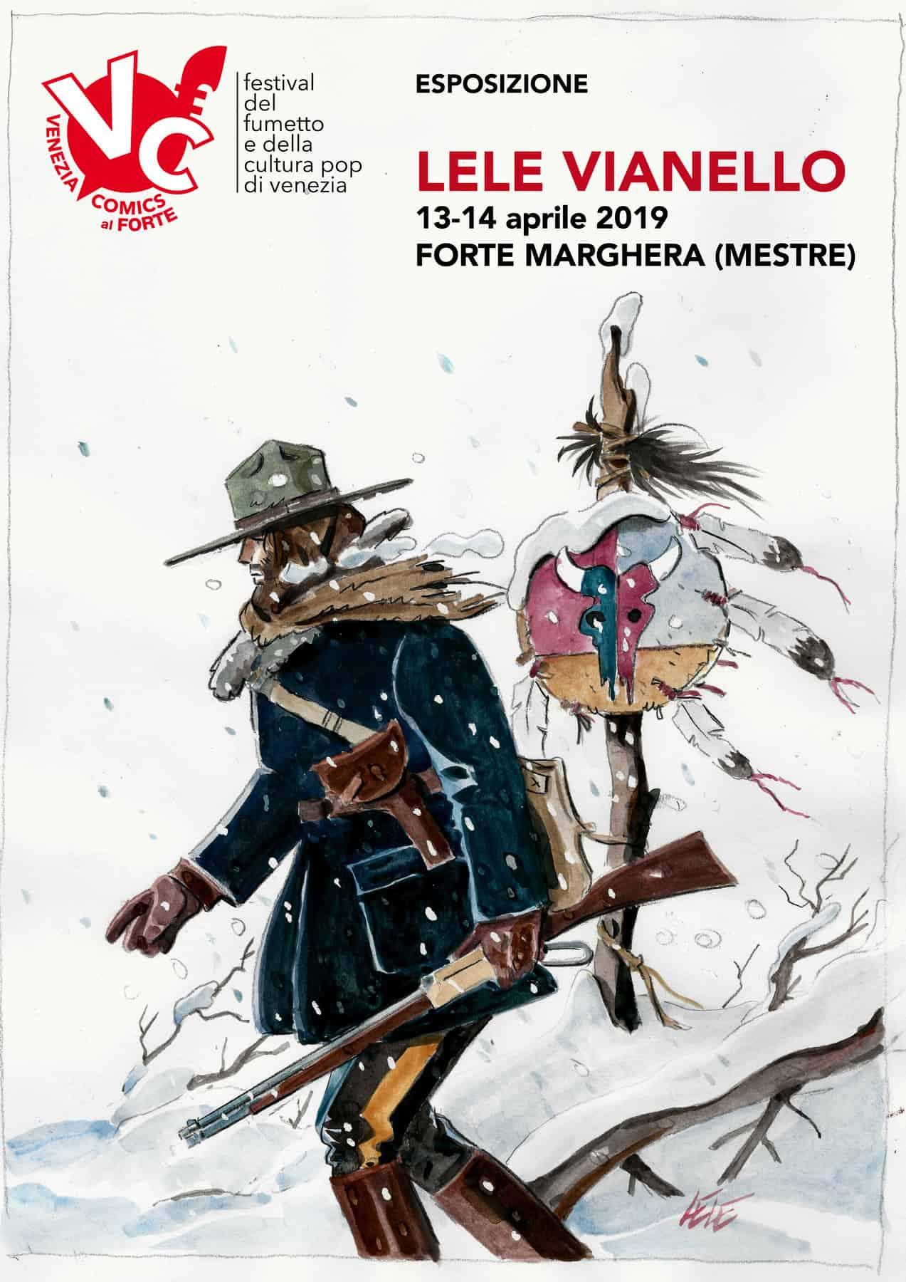Locandina mostra Lele Vianello, Venice Comics 2019