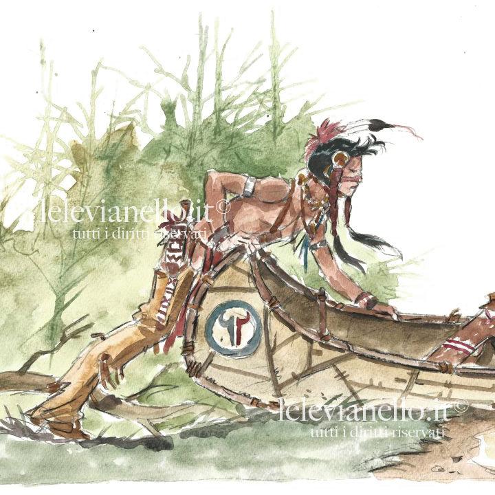 06. Pellerossa con Canoa