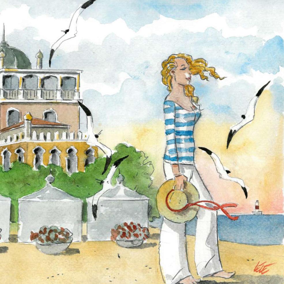 Lido, itinerari illustrati tra storie e leggende dell'isola